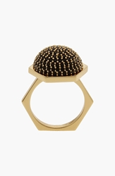 Rachel Zoe 'Sophia' Pave Dome Ring Black Diamond Clear