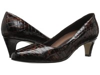 Walking Cradles Joy Brown Patent Crocco Women's Shoes
