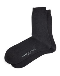 Falke Cashmere And Wool Blend Cozy Socks Black
