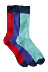 Hook Albert Patterned Crew Socks Pack Of 3 Multi