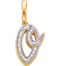 Monica Vinader 18Ct Yellow Gold Vermeil And Diamond Alphabet Pendant O