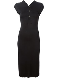 Jean Paul Gaultier Vintage Cap Sleeve Dress Black