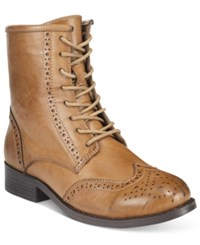 Wanted Rickey Lace Up Oxford Booties Women's Shoes Taupe