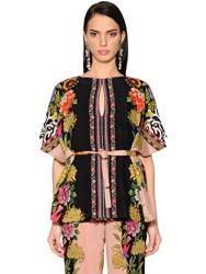 Etro Printed Lightweight Crepe De Chine Top