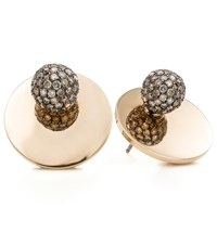 Spinelli Kilcollin Saturn Gold Stud Earrings Female White