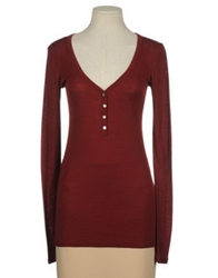 Suoli Long Sleeve Sweaters Maroon
