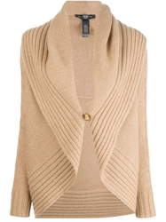 Ralph Lauren Black Shawl Collar Cardigan Nude And Neutrals
