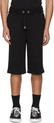 Versus Black Logo Band Shorts