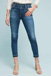Anthropologie Citizens Of Humanity Rocket High Rise Skinny Cropped Jeans Denim Medium Blue