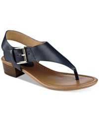 Tommy Hilfiger Kitty Block Heel Sandals Women's Shoes Navy
