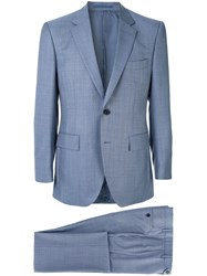 Gieves And Hawkes Tailored Suit Jacket Blue