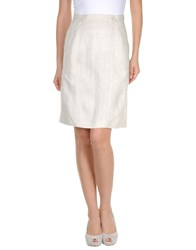Les Copains Skirts Knee Length Skirts Women Beige