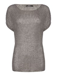 Replay Short Sleeve Knitted Jumper Grey