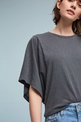 Anthropologie Crew Neck Kimono Tee Dark Grey