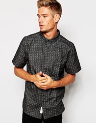 Native Youth Short Sleeved Shirt With Ditsy Floral Print Grey