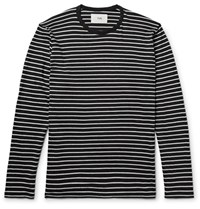Folk Striped Cotton Jersey T Shirt Charcoal