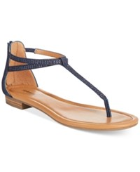 Styleandco. Style And Co. Brinna Embellished Thong Sandals Only At Macy's Women's Shoes Denim Sparkle