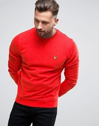 Lyle And Scott Crew Sweatshirt Eagle Logo In Red Red