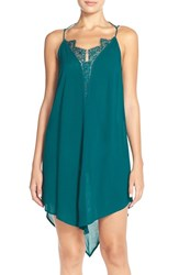 Women's Free People 'Parisian' High Low Crepe Chemise