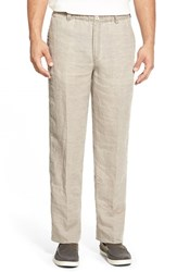 Tommy Bahama Men's 'New Linen On The Beach' Easy Fit Pants Santiago Brown