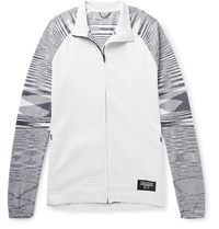 Adidas Consortium Missoni Tech Jersey And Space Dyed Stretch Knit Track Jacket Gray