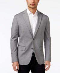 Alfani Men's Classic Fit Heathered Knit Blazer Only At Macy's Oxford Heather