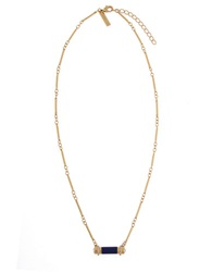 Rachel Zoe Nichola Bar Necklace Lapis Gold