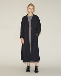Casey Casey Waxed Cotton Coat Navy