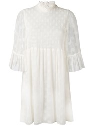 Mcq By Alexander Mcqueen Frill Sleeve Mini Dress Women Polyamide Polyester Viscose 40 White
