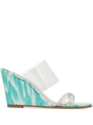 Maryam Nassir Zadeh Olympia Wedge Sandals Blue