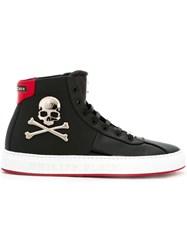 Philipp Plein 'Bones' Hi Top Sneakers Black