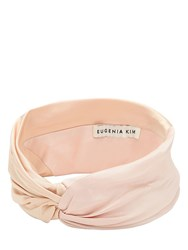 Eugenia Kim Malia Satin Headband Blush