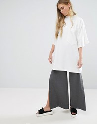 House Of Sunny Wide Leg Popper Pant Grey