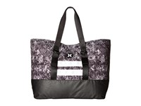 Hurley Beach Active Tote 2.0 Printed White Hyper Orange Black Tote Handbags