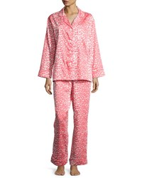 Bedhead Wild Thing Classic Pajama Set Coral Ivory Plus Size