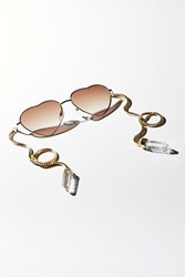 My Willows Womens Golden Heart Sunglass