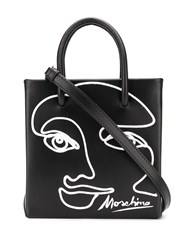 Moschino Cornely Drawing Tote Black