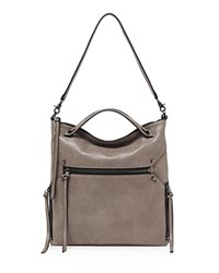 Botkier Logan Leather Hobo Truffle Gunmetal