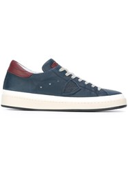 Philippe Model Panelled Lace Up Sneakers Blue