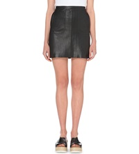French Connection Jetson Leather Skirt Black