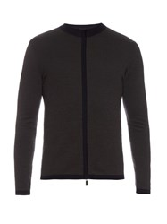 Giorgio Armani Zip Through Wool Sweater