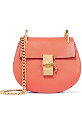 Chloe Drew Mini Textured Leather Shoulder Bag Tomato Red