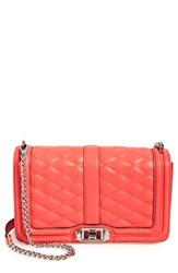 Rebecca Minkoff 'Love' Crossbody Bag Coral Bright Coral Silver
