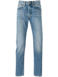 Edwin Tapered Jeans Men Cotton 36 Blue