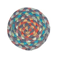 Braided Rug Company Coasters Set Of 6 Carnival Blue