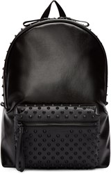 Alexander Mcqueen Black Canvas Studded Backpack
