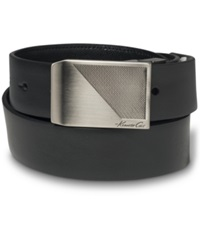 Kenneth Cole New York Reversible Textured Plaque Buckle Belt