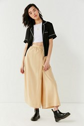 Urban Outfitters Uo Walk My Way Wide Leg Wrap Pant Honey
