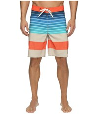 Vans Era Stretch Boardshorts 20 Khaki Compass Stripe Men's Swimwear Multi