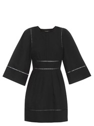 Isabel Marant Reone Linen And Cotton Blend Dress Black
